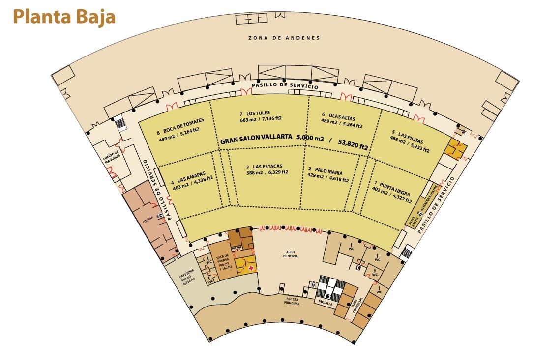 Planta Baja Centro Internacional de Convenciones Puerto Vallarta