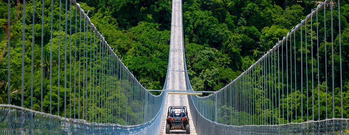 The Jorullo Hanging Bridge